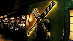 Don Quixote... (Constantinos_A) Tags: sony a6300 cafe coffee food restaurant windmill venue glyfada attica night low light handheld photography street city