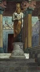 386.2/402 The statue of Nebuchadnezzar (Daniel 2:31) gouache on board by Michel Simonidy after James Tissot Jewish Museum New York presented by Phillip Medhurst (Phillip Medhurst) Tags: tissot jamestissot bible oldtestament jewishmuseumnewyork daniel bookofdaniel phillipmedhurst simonidy michelsimonidy statue nebuchadnezzar