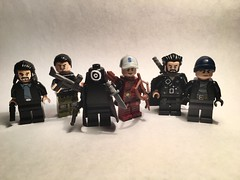 Suicide Squad (bagira.norm2) Tags: vandalsavage rickflag squad suicidesquad weapons gun killer line display art arrow villain superhero assassin captainboomerang onomatopoeia arsenal minifigures customs lego dccomics dc