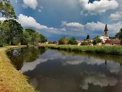 Canal des Vosges. (denismartin) Tags: denismartin vosges france grandest lorraine cloudscapes cloud weather sky river canal chaumouzey bouzey epinal spring