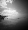 Looking south on Newgale Beach (Christopher M Hight) Tags: zero 2000 pinhole panf50 film ilford 120