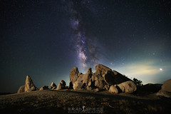 The Eagle has Landed (ihikesandiego) Tags: eagle rock san diego hikes pacific crest trail milky way night sky