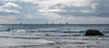 Lagging Behind (Claude Downunder) Tags: sailing sailboats sailboat pacificocean pacific panorama australia portmacquarie nsw clouds sky ocean sea water rocks waves