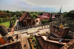 Temple View (leewoods106) Tags: ayutthaya ayutthayahistoricalpark thailand asia southeastasia fareast mustseeplaces temples temple buddha buddhism orange blue statues art stunningplaces stunning people person trees vegitation