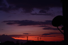 The last time. (camilocbernal) Tags: sunset sky antenna clouds red lavender boho sad colors our world colorsinourworld