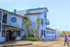 The Harbor Restaurant (joe Lach (On Vacation) !!) Tags: california santabarbara harborrestaurant stearnswharf pier people pacificocean woodenpath joelach