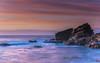 Sunrise Seascape and Rocky Outcrop (Merrillie) Tags: daybreak sunrise cloudy australia nsw centralcoast clouds sea newsouthwales rocks earlymorning morning water landscape ocean nature sky waterscape coastal seascape outdoors killcarebeach dawn coast killcare waves
