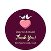 Love Birds Red Thank You Sticker (Set of 25 pcs) (Gift Elements) Tags: gifttags wedding stickers weddingtags weddinggifttags weddingstickers thankyou love heart lovebirds red giftwrapping favour favor favorsticker weddingparty creative customise customize personalise giftelements