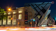 ROM (umakantht) Tags: d800 toronto canada architecture building night longexposure lighttrails