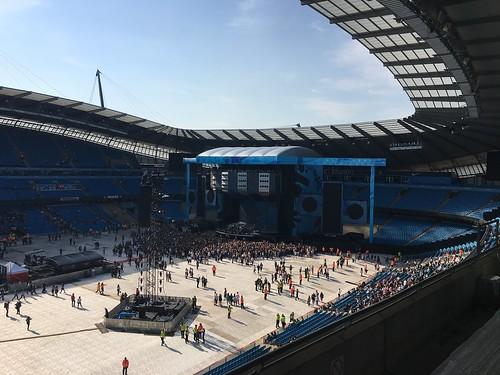 Ed Sheeran Concert at Manchester City's Etihad Arena Football Stadium