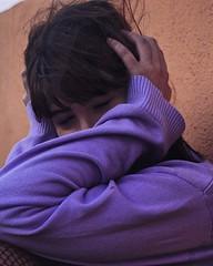 """Leila; """"think about me."""" [05.07.18] (ineedvaliumandattentions) Tags: blush bones hoodie sweetie heart eyes purple lilac colors neighborhood skin love coolkidsneversleep kids guys street urban"""