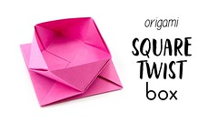 Origami Square Twist Box / Pot Tutorial - Paper Kawaii (paperkawaii) Tags: origami instructions paperkawaii papercraft diy how video youtube tutorial