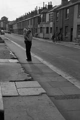 Grandad and Jim (vintage ladies) Tags: vintage blackandwhite portrait people street road car cars pub grandadandjim