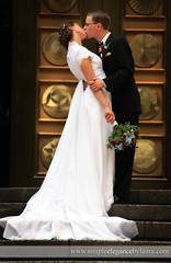 Graceful Bride and Groom (Laura K Bellamy) Tags: wedding weddings bride groom kisses couple