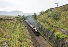 Into the Dark (4486Merlin) Tags: galatea 45699 cumbria england europe exlms heritagerailways lms6p5fjubilee northwest railways settlecarlislesc steam transport unitedkingdom northyorkshire gbr thehadrian rytc wcrc
