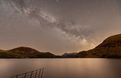 The Milky Way rises over Ennerdale Water, Cumbria, England (linda.m.davison@btinternet.com) Tags: nightscape astronomy night cumbria countryside longexposure stars milkyway lake ennerdale