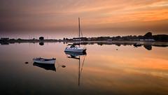 Buoys and their Toys (Solent Poster) Tags: chichester langstone harbour sunset sunrise boats hampshire reflections dji phantom 4 pro plus p4p djiphantom4proplus