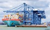 Container ship docked at Felixstowe docks (neilanderson1982) Tags: felixstowe docks ship huge colourful crane lorry container autum water boat blue clouds