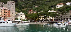 arriving at porto venere (scott1346) Tags: towns cinque terra quaint seaside mediterranean water colors yellow pink blue tan pastels tourstop ferry 1001nights 1001nightsmagiccity landscape canont3i thegalaxy