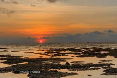 Sunset, Kamala Beah, Phuket, Thailand (HellonEarth2006) Tags: kamalabeah thailand asian clouds color colour copuspace ocean orabge phuket rocks sea southeastasia sunset tropical