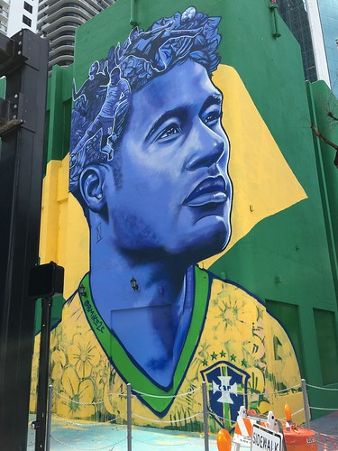 Neymar Larger Than Life Mural Brickell