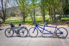 Ah yes, the tandem.  We contemplated one trying to tour on this.  Still not great on it together.