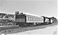 Santa Fe heavyweight passenger car converted to camera-car at Cajon Summit in 1976 (Tangled Bank) Tags: train railroad railway old classic heritage vintage fallen flag santa fe heavyweight passenger car converted cameracar cajon summit 1976
