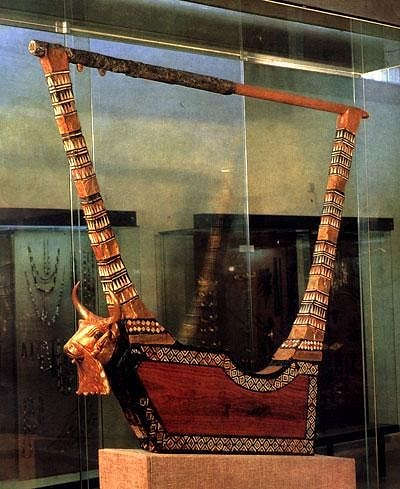 #arpa 🎶 #sumeri #sumerian ✨ #harp #5000yearold #2600AC 🎥#elettritv💻📲 #baghdad 📷  di lynn abercrombie ] ; ) ::\☮/>>z
