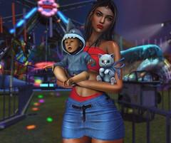 Having fun with the kids (: (Katy Hastings) Tags: addams doux new arcade minimal blackbantam badunicorn decoratesl amias park summer sixflagssimulation secondlife
