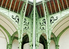 Support beams come together in a corner of the Grand Palais (Monceau) Tags: grandpalais paris support beams ornamentation green arch