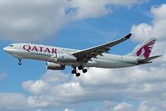 A7-AFZ 02/06/18 Heathrow (EGLL) (Lowflyer1948) Tags: a7afz airbus a330243f 020618 heathrow myrtleavenue qatarairwayscargo
