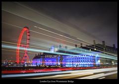 London Eye from Westminster Bridge (Oguzhan Amsterdam) Tags: london eye westminster bridge england united kingdom night photography long longshuttertime shuttertime colors colorful exposure