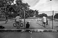 -Concrete (-Chiallonz) Tags: milan italy playground concrete skatepark skate wideangle kids boys people street urban urbanphoto photo may spring nikon bnw blackandwhite noir grey