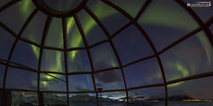 Aurora seeing with comfort (dieLeuchtturms) Tags: nacht schnee norwegen meer europa nordlicht lyngenalpen winter küste 2x1 panorama fjord lyngenfjord troms europe lyngenalps norge norway auroraborealis coast night northernlights sea shore snow no