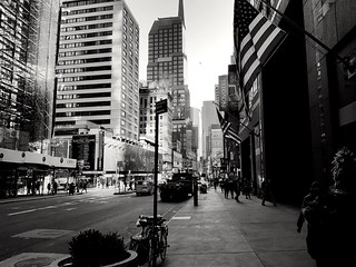 Lexington avenue in monochrome