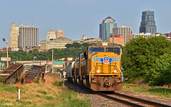 """Northbound Manifest in Kansas City, MO (""""Righteous"""" Grant G.) Tags: up union pacific railroad railway locomotive train trains north northbound manifest freight kansas city missouri"""