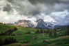 Alpe di Siusi (der_peste (on/off)) Tags: dolomites landscape italy altoadige mountainscape alps alp highalp seis seiseralm alpedisiusi dolomiti dolomiten südtirol trentino clouds cloudscape dramatic moody rollinghills hills huts barn barns trees moutains