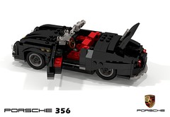 Porsche 356 Speedster (lego911) Tags: porsche 356 speedster convertible german germany boxer auto car moc model miniland lego lego911 ldd render cad povray open compact sports sportscar classic 356a 1955 1950s gmünd gmund