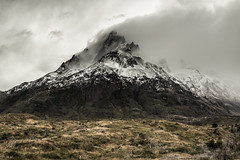 Paine Grande (view full-screen) (Piotr_PopUp) Tags: painegrande torresdelpaine patagonia ultimaesperanza chile landscape mountain mountains cloud clouds nature cloudy rockformation snow latinamerica southamerica