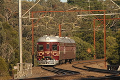 Morning Motor (james.sanders2) Tags: main western line nsw nswgr railways rail railway 150 years trains 621721 motor railmotor indian red round nose wentworth falls blue mountains