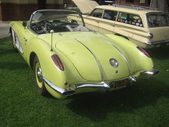 From 1958 (goldiesguy) Tags: goldiesguy gm automobile auto automobiles antique cars car classic classics carshow chevrolet classicrearendscars corvette old outdoors vehicle vehicles