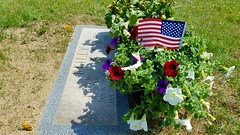 Memorial day weekend 2018 (bpephin) Tags: flag usa usflag clouds sky sunny windy america red white blue