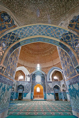 blue mosque (freakingrabbit) Tags: kabud mosque blue tile interior dome arch tabriz iran persia