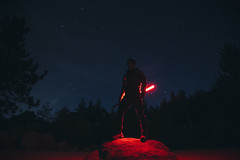 Midnight Crimson (de.pict) Tags: jedi sith bigbearlake night lightsaber stars silhouette ultrasabers