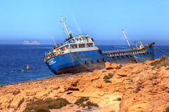 Ship wreck (Majorimi) Tags: ship sea wreck hdr color nice shore rock disaster washed island malta mediterranean storm
