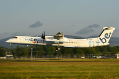 G-ECOP DHC-8-402 EGPH 29-05-18 (MarkP51) Tags: gecop dehavilandcanada dhc8402 dhc8 dash8 flybe be bee edinburgh airport edi egph scotland aviation aircraft airplane plane image markp51 sunshine sunny airliner nikon d7100 d7200 aviationphotography