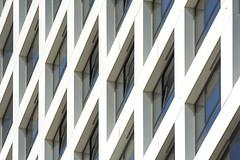 White play of lines (Jan van der Wolf) Tags: 185118v architecture architectuur lines lijnen lijnenspel interplayoflines playoflines white wit facade gevel perspective perspectief rhythm visualrhythm delft abstract herhaling repetition