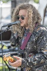 Love the coat (David Feuerhelm) Tags: music nikkor coulor man musician guitar singer hair jacket cool strawberryfair cambridge nikon d750 70200mmf28