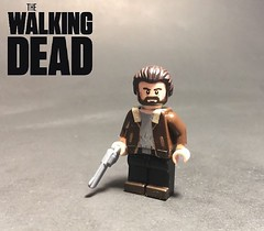 Rick Grimes from TWD (TheBrickBrewer) Tags: citadel paints tape painted custom twd dead walking lego