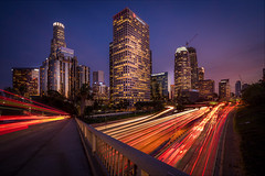 Los Angeles Downtown (photoserge.com) Tags: downtown locale cityscape colors light night photography view building leading line composition